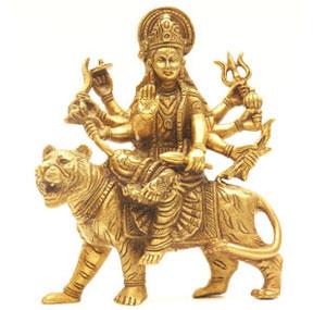 Goddess Durga Statue Wooden Carving Nepal Handicraft Shop
